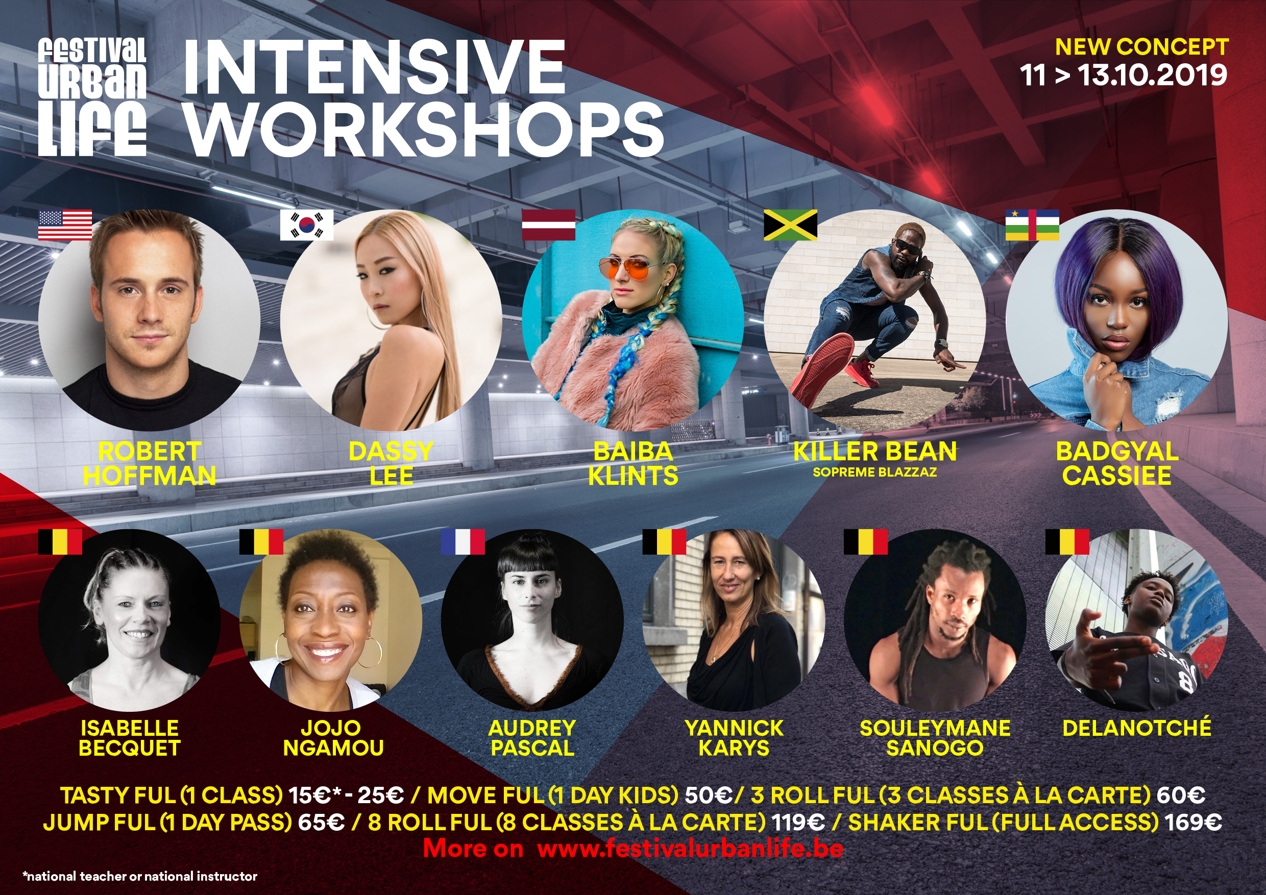 Intensive Workshops Festival Urban Life 2019